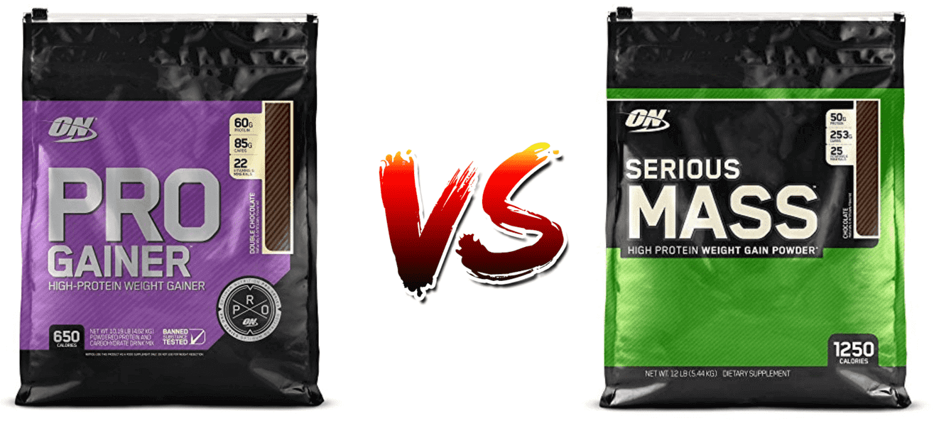 pro gainer vs serious mass