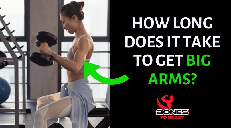 Featured image of lady working towards getting big arms
