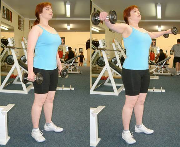Lateral to Front Raise using weights